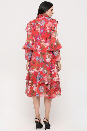 Multicolored Floral Printed Dress by Pooja Verma