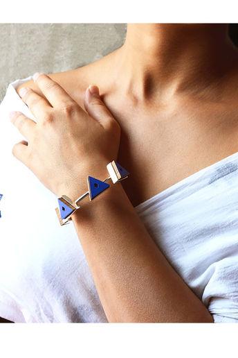 Beautifully Handcrafted Kada Bracelet In Indigo Blue by Satat