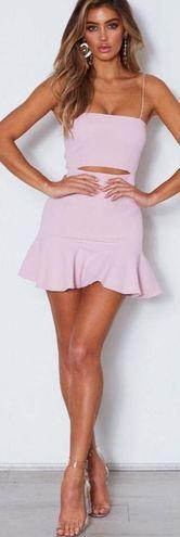 White Fox Boutique Dusty Pink Mini Dress