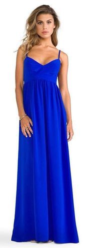 "Amanda Uprichard ""Silk Gown"" In Royal Blue"