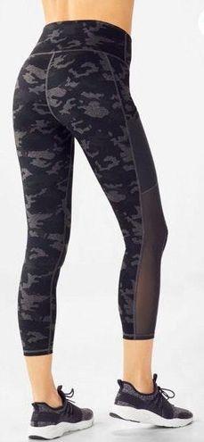 Fabletics Gray And Black Camo Leggings