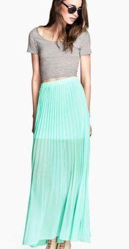H&M Mint Maxi Skirt