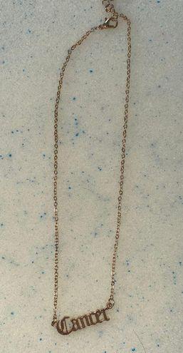 SheIn Gold Zodiac Necklace