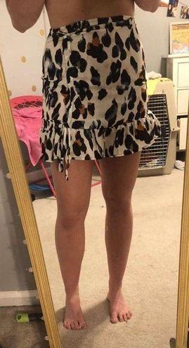SheIn Tan cheetah skirt