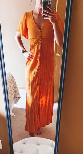 Forever 21 Mustard Yellow Maxi Dress