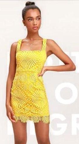 Lulus Yellow Lulu Dress