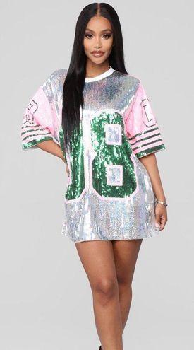 Fashion Nova Goalz Sequin Tunic Dress