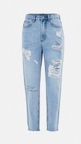 Missguided Riot High Rise Mom Jean