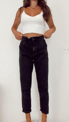 American Eagle Outfitters Black Denim Mom Jeans