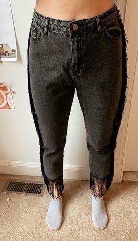 Nasty Gal Fringe Jeans