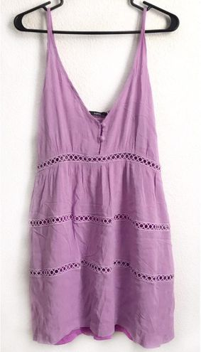 Zaful Lilac Cutout Crochet Mini Sundress