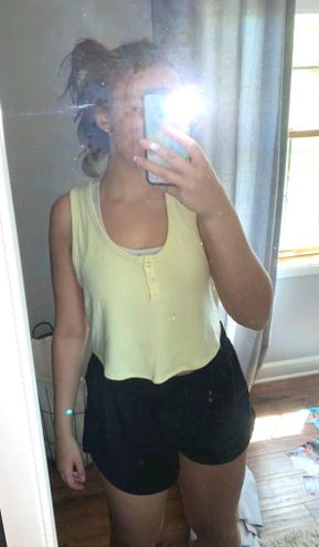 Forever 21 Yellow Crop Tank