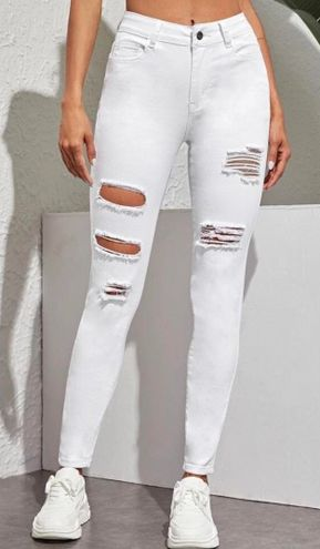 SheIn White Jeans