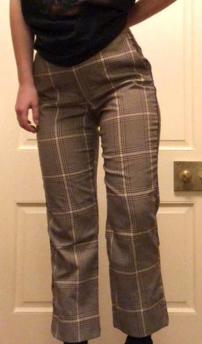 Abercrombie & Fitch plaid flare pants