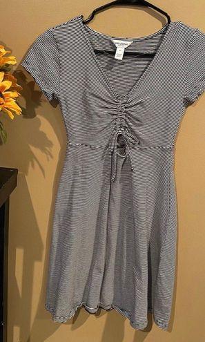 Arizona Jeans Co Black & White Striped Sundress