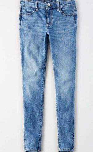 American Eagle Outfitters Faded Blue Skinny Jeans - Size 2