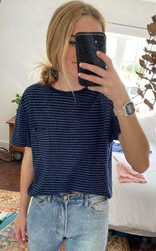 Striped blue Pocket Tee