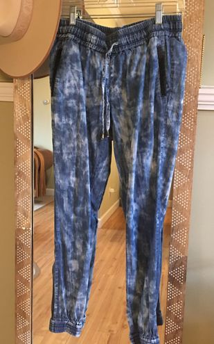 Life in Progress Blue Tie Dye Chambray Jogger Pants