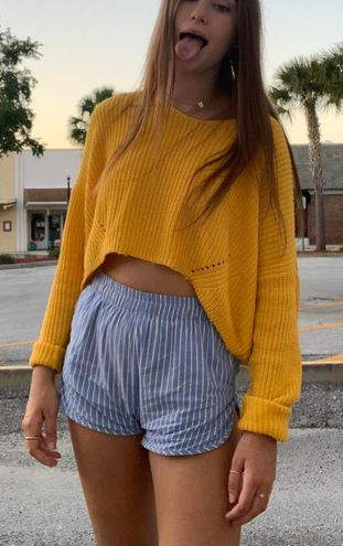 Target Yellow Crop Sweater