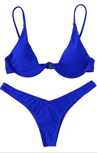 SheIn Cobalt Blue Underwire Bikini