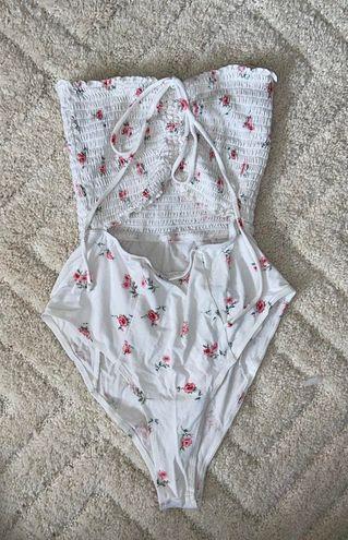 Floral Cut Out Bodysuit