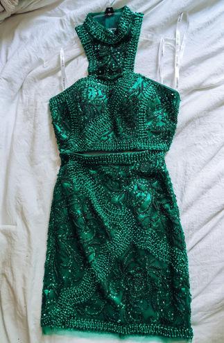 Sherri Hill Beaded Two Piece Dress
