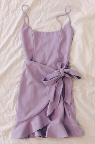 Lucy in the Sky Lavender Ruffle Dress