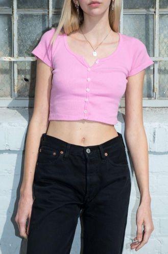 Brandy Melville Pink Zelly Top