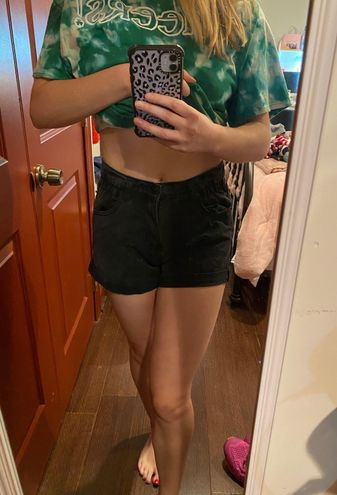 Boutique Black High Waisted Jean Shorts