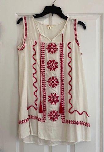 Miami Embroidered Shift Dress
