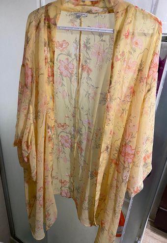 Yellow Floral Kimono/duster