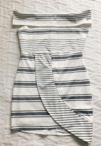 Sabo Skirt Stripe Off Shoulder Dress