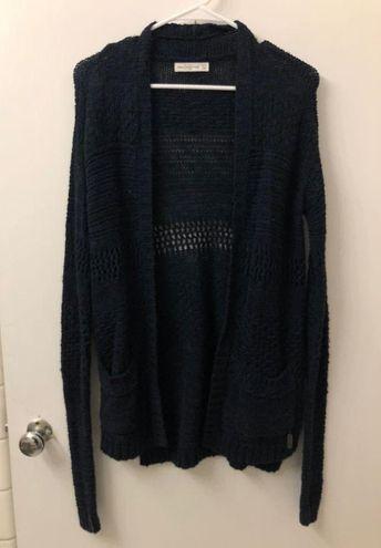 Abercrombie & Fitch Navy Knit Cardigan