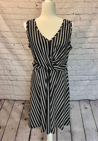 Candie's  Black & White Striped Dress