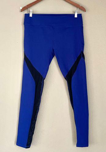 Fabletics Blue High Rise Mesh Panel Active Leggings Sz L
