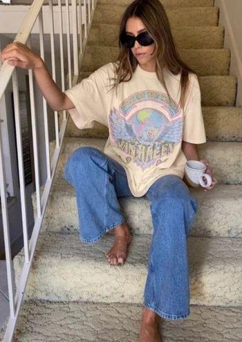 Urban Outfitters Van Halen Distressed Oversize Dress Tee O/S