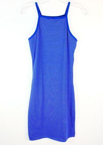 Cotton On Sky Blue White Pinstripe Bodycon Dress