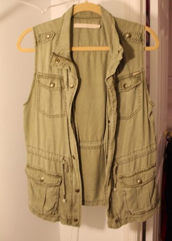 Max jeans Olive Green Cargo Vest