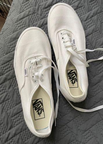 Vans White Platform