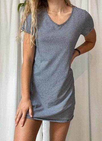 Navy Striped T Shirt Dress