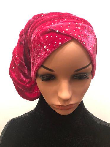 New Pink Bling Bouffant Velvet Hair Hat!!!