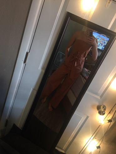 Hot & Delicious Orange/brown Jumpsuit