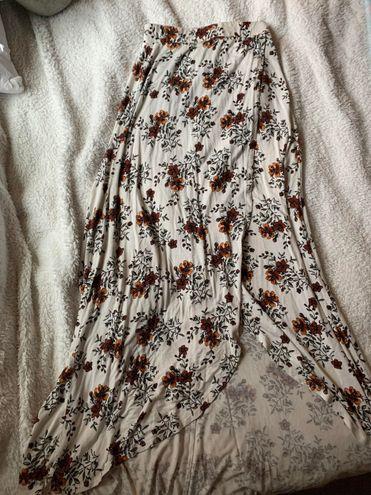 Flowy Autumn Colored Long Skirt