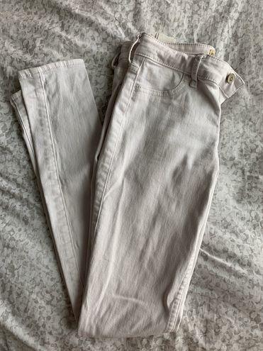 Hollister White Super Skinny Jeans