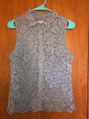 H&M Lace Snap Up Blouse