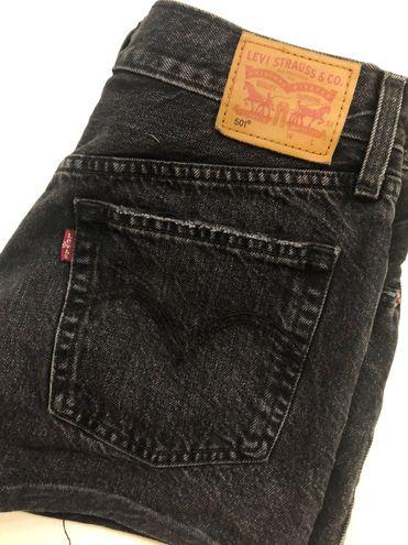 Levi's 501 High Waisted Denim Shorts