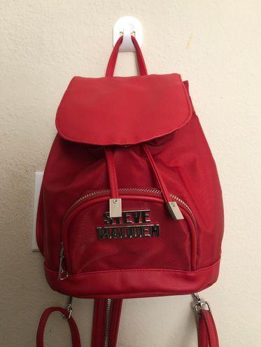 Steve Madden Red Mini Backpack