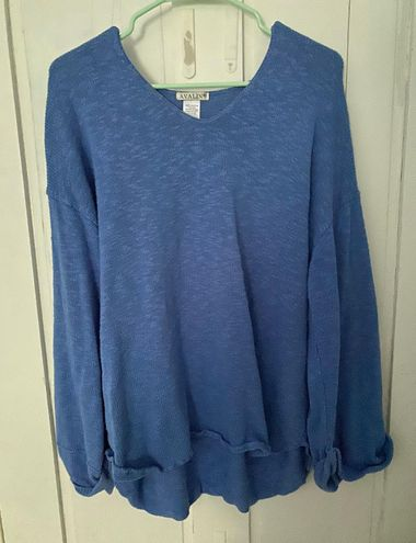 Avalin Royal Blue Sweater With Flare Sleeves