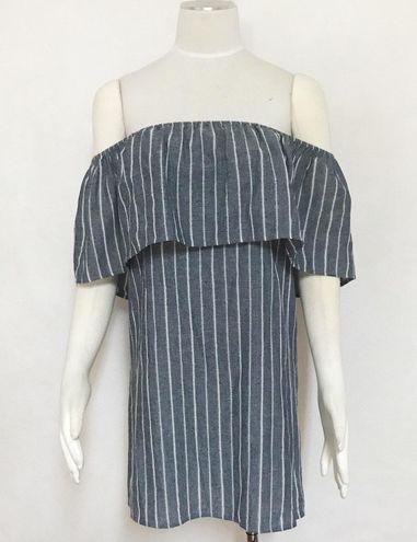 Honey Punch Off Shoulder Striped Boho Dress