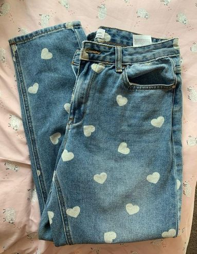 Nasty Gal Heart Boyfriend Jeans